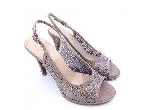 Dámské letní boty na podpatku, béžové