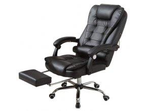 Kancelářská židle s funkcí masáže, černá