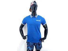 Pánské triko s límečkem KANGOL, modré