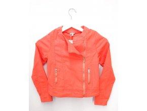 Dětská koženková bunda MINIMAN, korálová