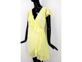 Dámské zavinovací šaty WalG, žluté