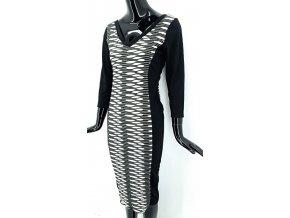 Dlouhé šaty FIRTLOVE, černobílé