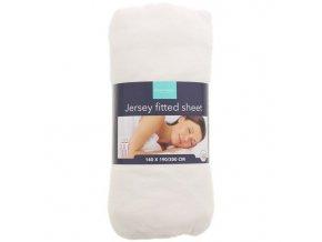 Jersey napínací prostěradlo Anne O'Leary, bílé - 140x190/200 cm