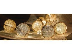 HQ Světelný řetěz koule, 10 LED diod - 1,5 m