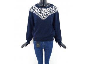 Ańge dámský úpletový svetr Le Safari, tmavě modrý
