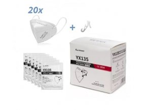 eexi ffp2 maskers met clip per stuk verpakt 20st