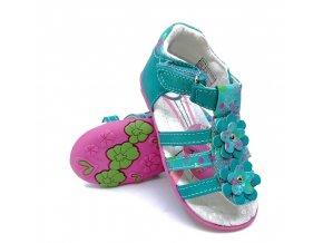 Dívčí páskové sandály Peddy - zelené