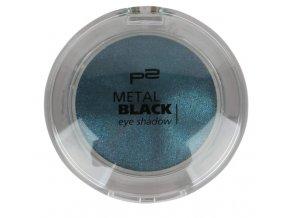 p2 Cosmetics / Metal Black eye shadow / oční stíny