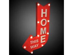 panou luminos decorativ home this way 10 led uri sageata stanga lemn