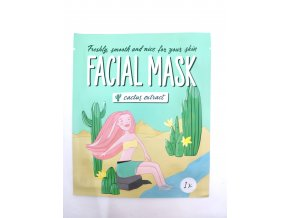 Kaktusová maska na obličej Mascot 1ks