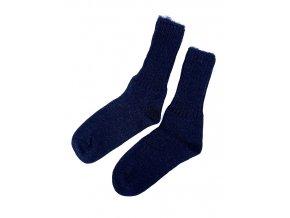 Bapon dámské vlněné ponožky, 1 pár - vel. 38-39, tmavě modré