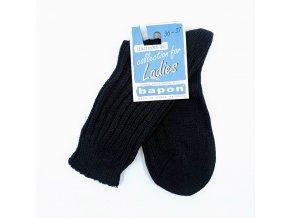 Bapon dámské bavlněné ponožky, 1 pár - vel. 36-37, černé