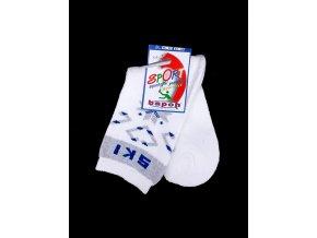 Bapon sportovní bavlněné ponožky 1 pár, bílo-šedé