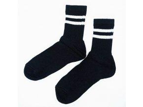 Bapon bavlněné sportovní ponožky, 1 pár - vel. 36-37, černé