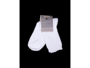 Bapon dámské bavlněné ponožky, 1 pár - vel. 36-37, bílé