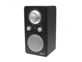 ARTSOUND – R5 RETRO RADIO RECEIVER, BLACK LEATHER