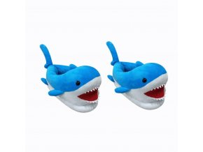 Childres Anime Cartoon Shark Slippers Warm Winter Slippers PP Cotton Plush Shoes Home House Slippers For 69138.1545308456