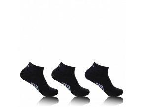 Kotníkové ponožky Umbro černé,  3 páry