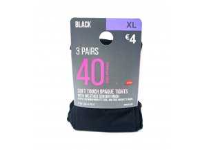Lycra dámské punčocháče - 40 dní - černé, 3 kusy