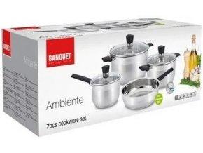 Sada nerezového nádobí Banquet Ambiente 7 ks
