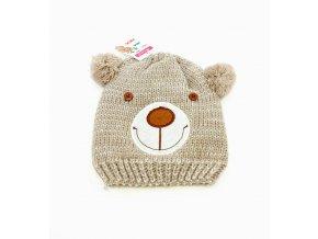 Dětská zimní čepice s kožíškem Antonio, medvídek