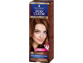 poly color creme haarfarbe 38 haselnuss 73 ml