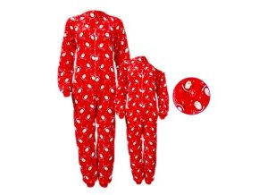 Dětské vánoční pyžamo / pyžamový oblek, červeno-bílé