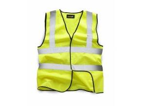 standsafe hv001 yellow hi vis waistcoat vest