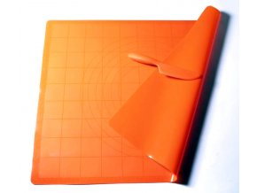 Vál silikonový, 60 x 50cm, oranžová, se silikonovým nožem zdarma