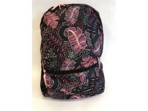 O'Neill batoh černý s růžovými lístky