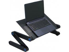 Stolek pro notebook Deluxa - 42 x 26 x 48 cm - černý