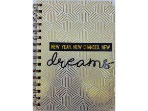 Luxusní blok formátu A5 New Dreams Tvrdé desky
