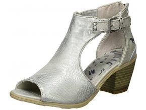 Mustang- dámské sandály stříbrné