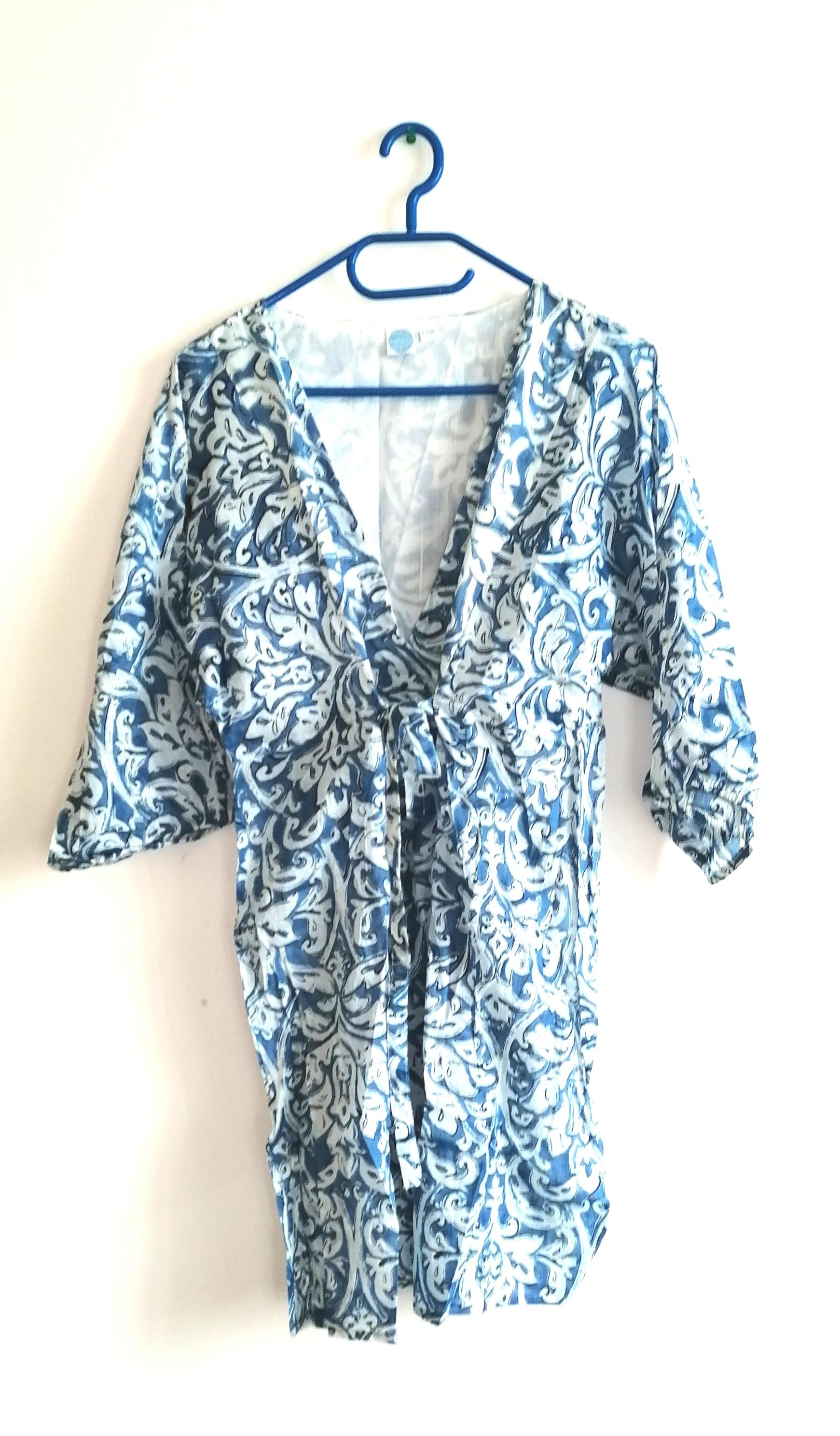 SORBETTO- dámské letní šaty světlemodrobílé Velikost: L/XL