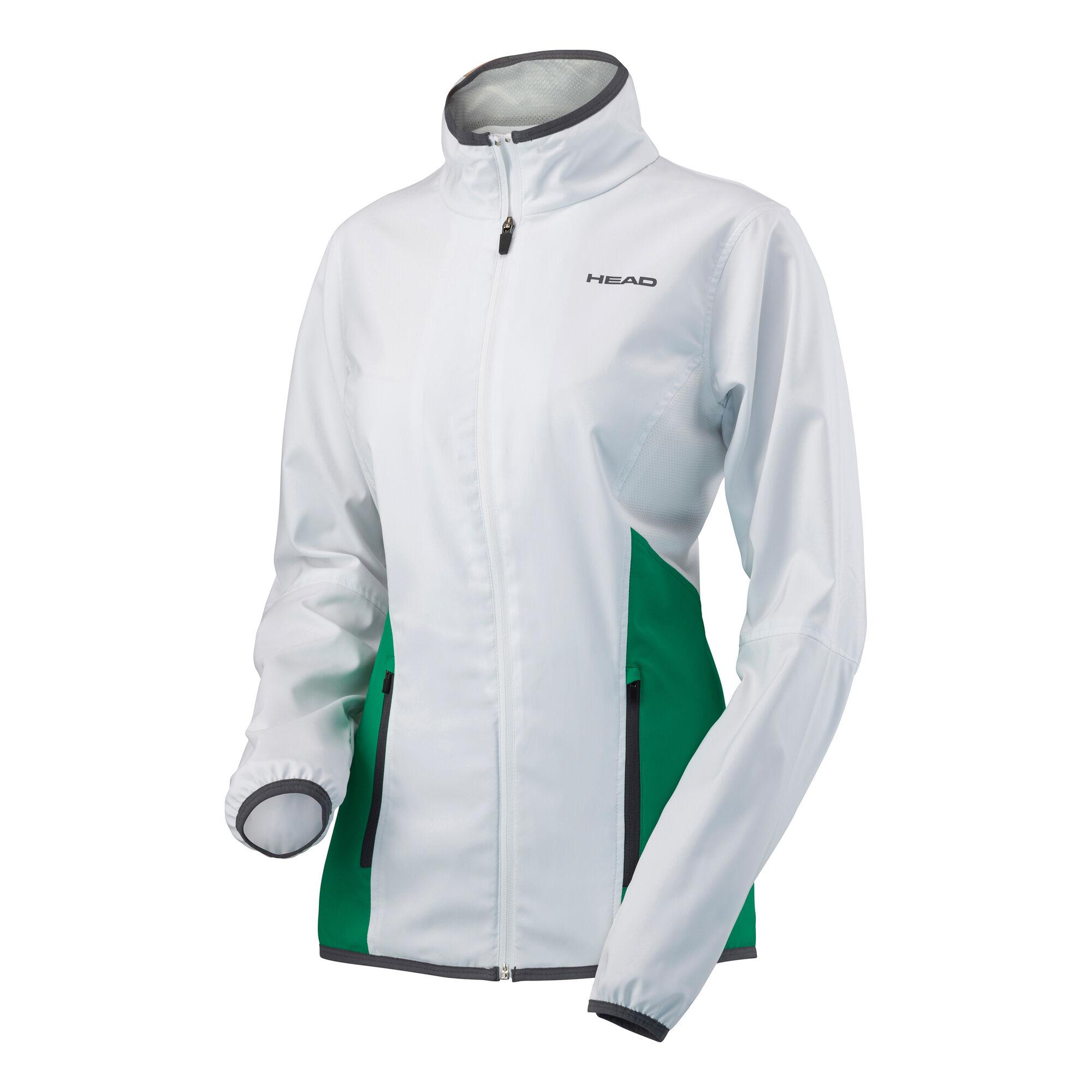 Dětská a dámská sportovní bunda Head bílo zelená *Velikosti textil: M