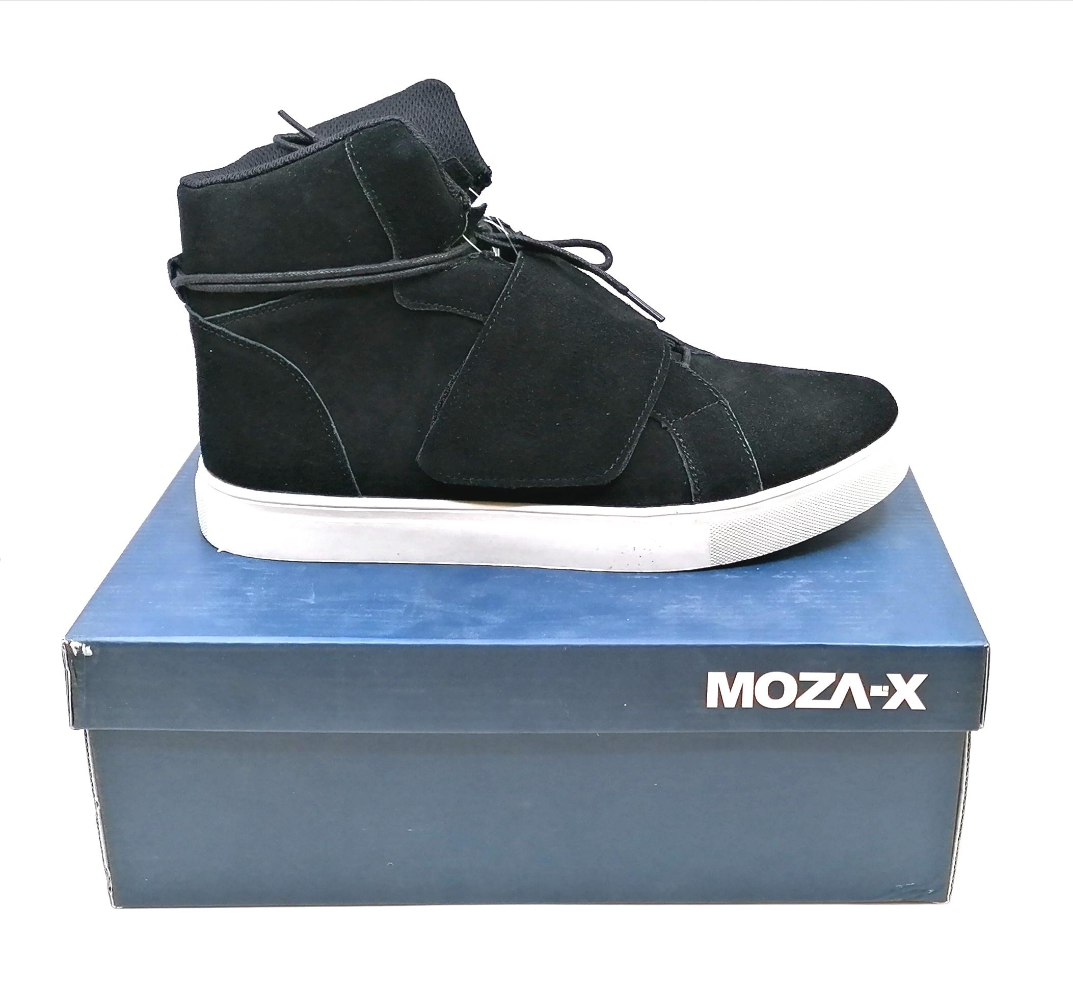 Pánská kotníková obuv semišová- černá, MOZA-X *Velikosti textil: 44