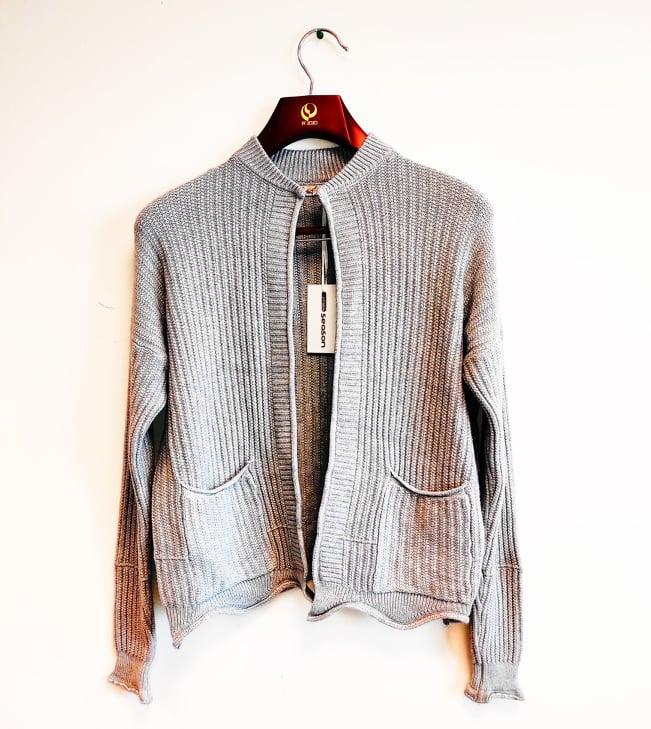 Dámský pletený svetr/cardigan Season různé zboží: bílá M/L