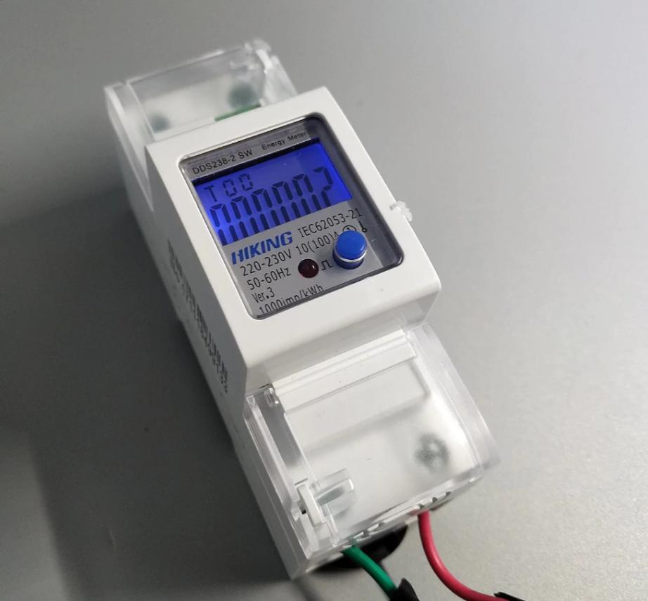 Hiking Jednofázový digitální elektroměr na DIN lištu