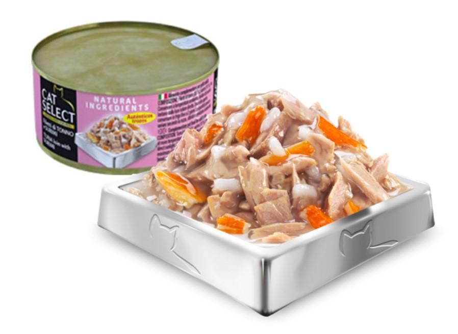 Cat Select konzerva pro kočky - tuňák a surimi, 70g