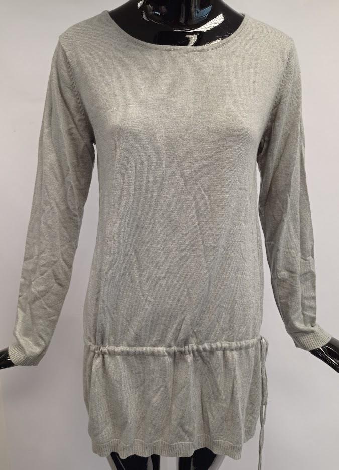 Dámský prodloužený svetr z úpletu Usha, šedý *Velikosti textil: XXL
