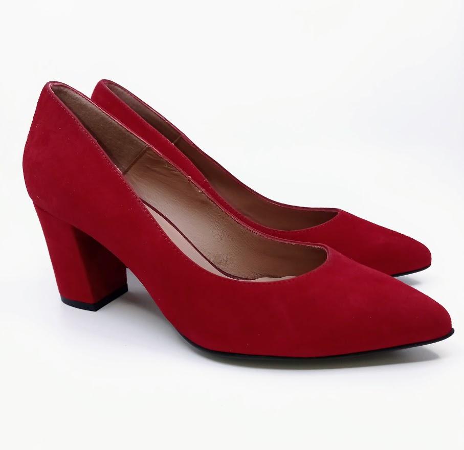 Dámské módní lodičky Hammerstein, červené *Velikosti textil: 40