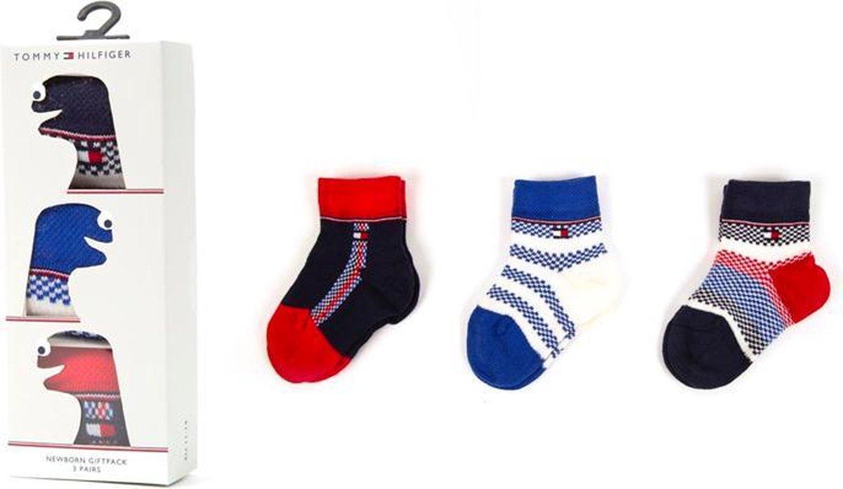 Baby ponožky 3 páry Newborn EU vel.11-14 Tommy Hilfiger