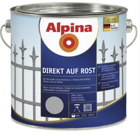 Alpina Direct A Rost lesk RAL5010 modrá 2,5L