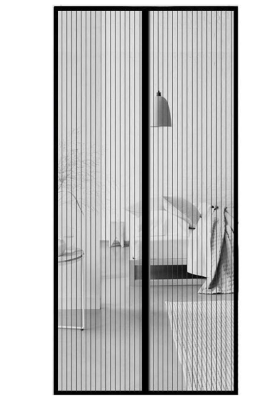Garden Magnetický závěs proti hmyzu - (2x) 50x210 cm - Černý