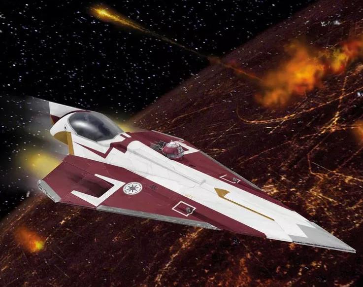 Revell model vesmírné lodě Star Wars 100 mm druh: 03614 –Obi-Wans Jedi Starfighter