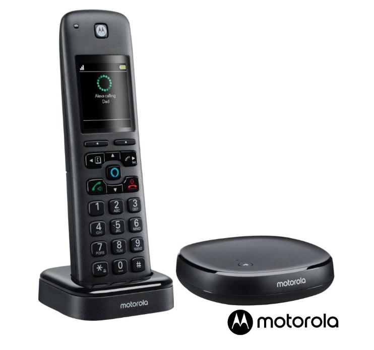 Motorola Bezdrátový telefon AXH01 W/ ALEXA - francouzský manuál, bez CZ menu