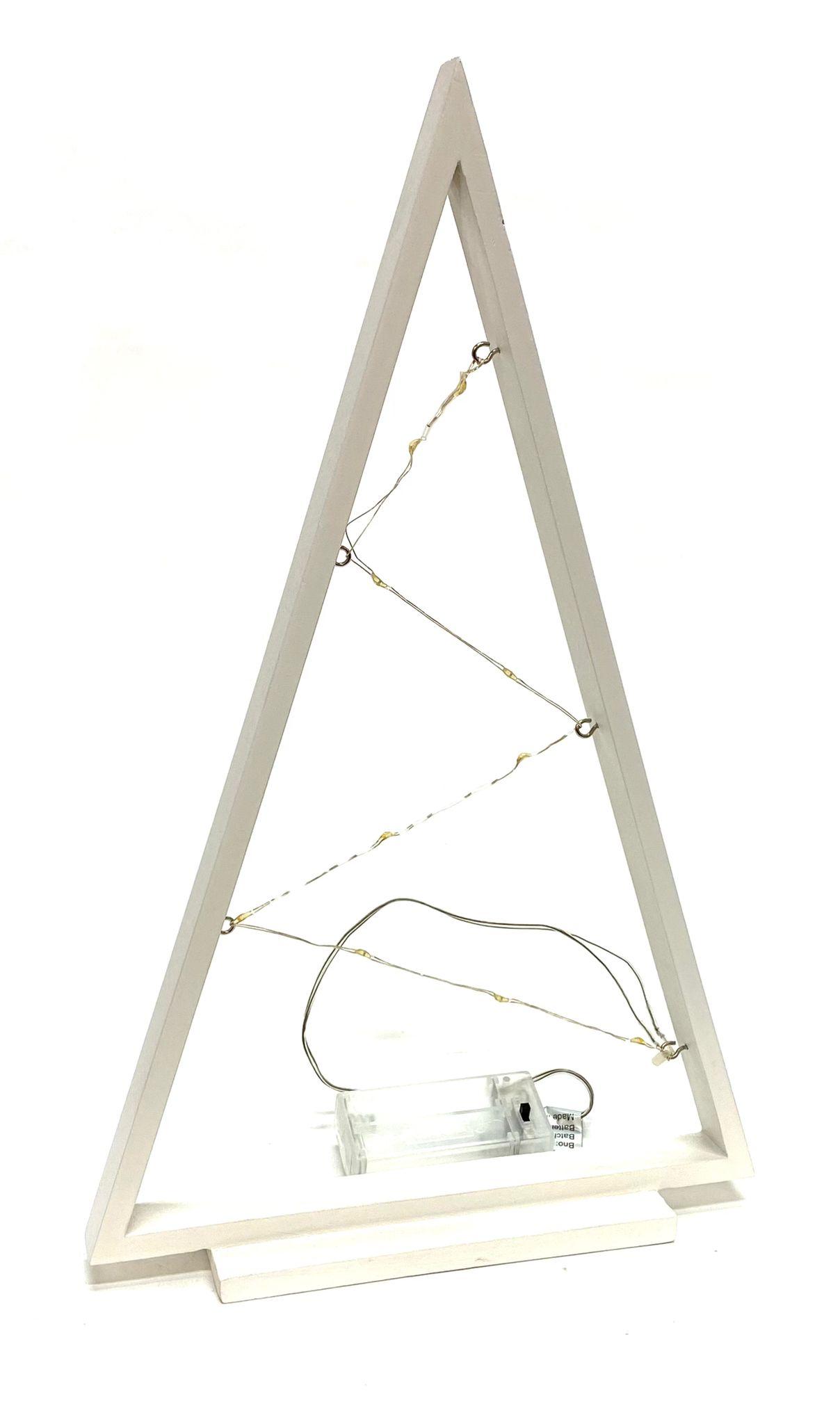 LED dřevěný vánoční stromeček, 35cm