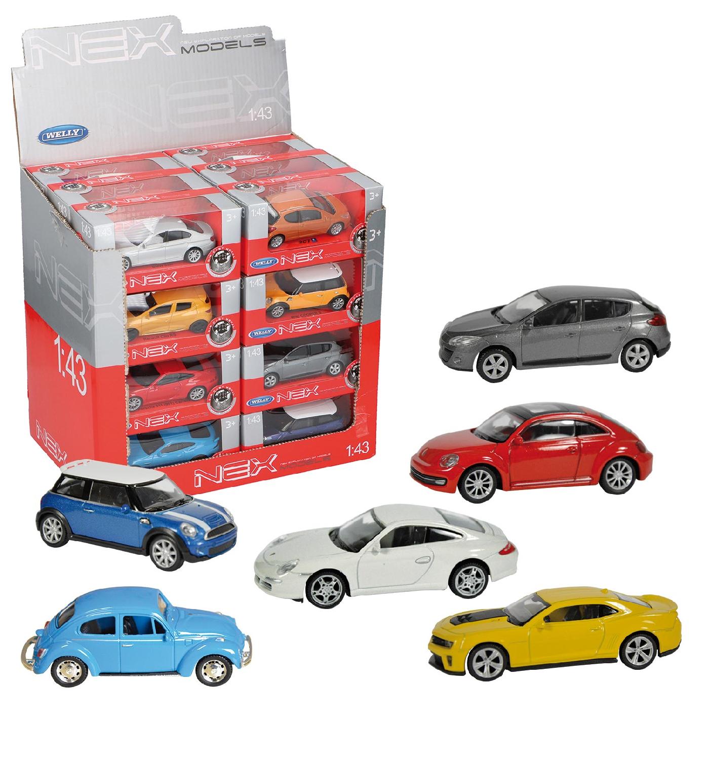 Welly Modely autíček NEX 1:43, různé varianty druh: Renault Twingo GT - červené