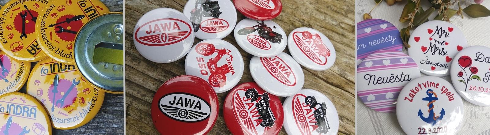 výroba placky a odznaky Jawa