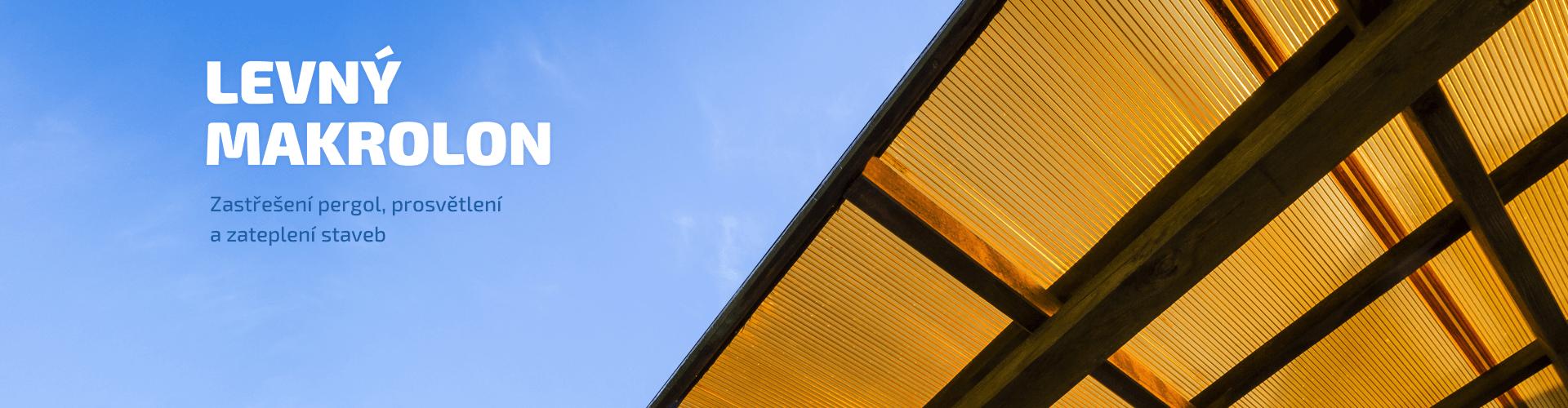 Levný makrolon - zastřešení pergol, prosvětlení a zateplení staveb